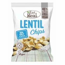 Eat Real Lencse Chips tengeri sós 40 g