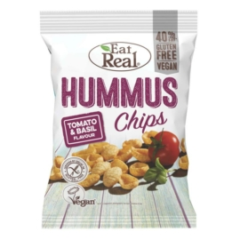 Eat Real Hummus Chips paradicsom-bazsalikom 45 g