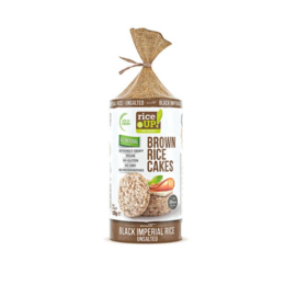 Rice Up Puffasztott teljes kiőrlésű barna rizs korong fekete rizzsel 120 g