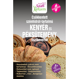 Szafi Reform Csökkentett Szénhidrát-tartalmú paleo kenyér és péksütemény lisztkeverék 500 g