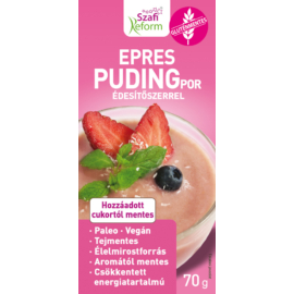 Szafi Reform Epres pudingpor édesítőszerrel 70 g