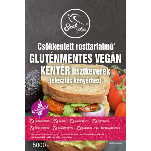 Szafi Free Csökkentett rosttartalmú gluténmentes vegán kenyér lisztkeverék 5000 g